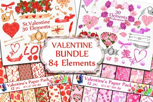 BUNDLE-Valentine's Day clipart