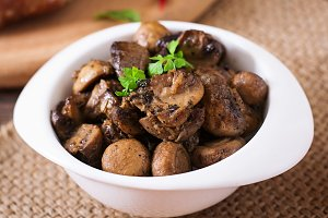 Baked mushrooms with Provencal herbs