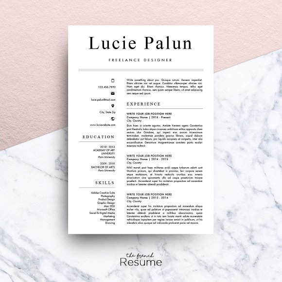 modern cv ms word lucie resumes