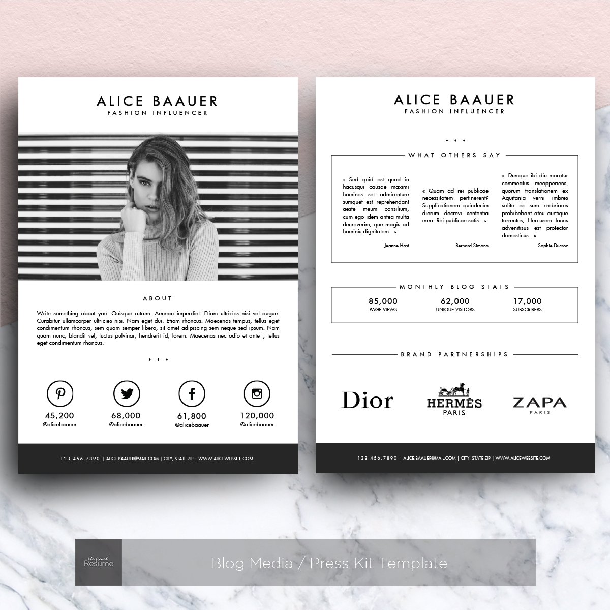 Blog media press kit template presentation templates for Press pack template