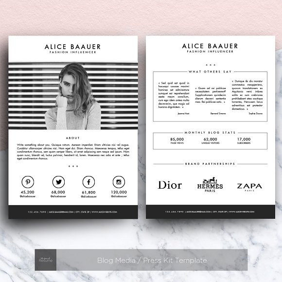 Blog Media Press Kit Template Presentation Templates on – Press Kit Template