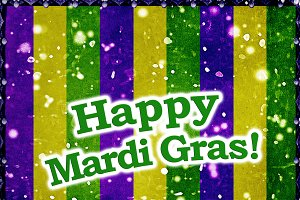Happy Mardi Grass Background