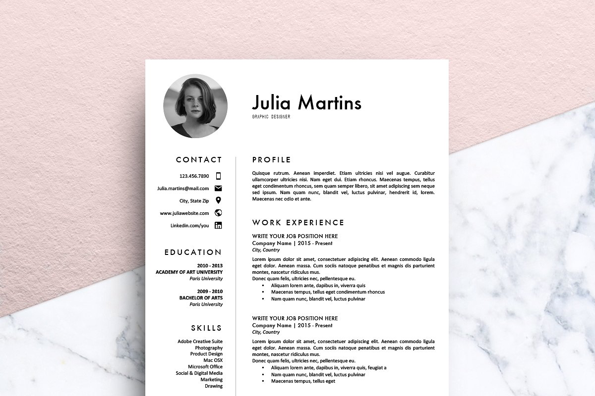 Resume Template (MS Word) | Julia ~ Resume Templates ...
