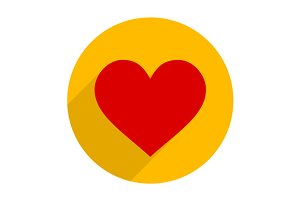Flat Style Heart Icon