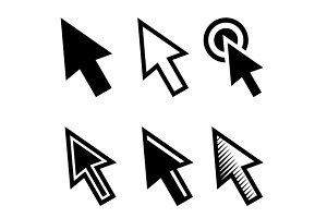 Arrow Cursors Symbol Icons Set