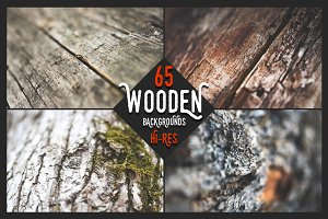 Wooden Backgrounds - Big Set