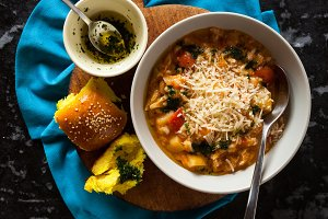 homemade soup minestrone