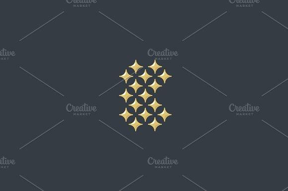 Stars letter B vector logo