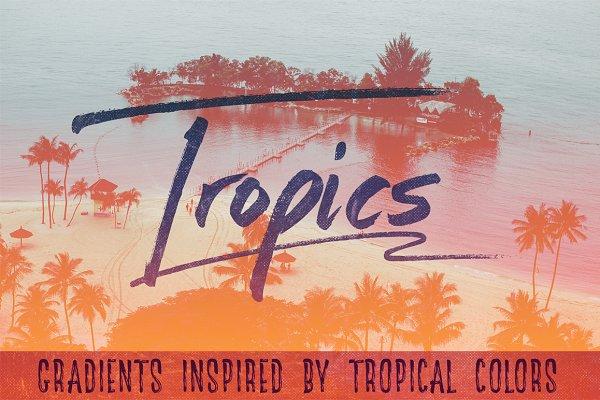 Gradients: Creative Supplies Co. - Tropics - 25 Tropical Gradients