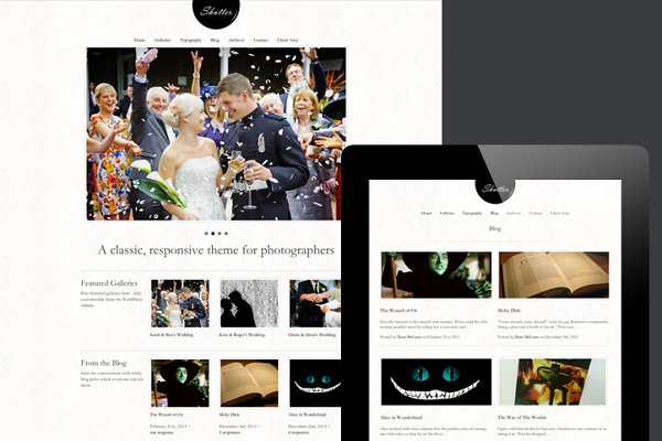 WordPress Photography Themes: Courtyard Themes - Shutter. A Classic Photography Theme