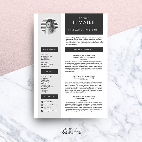 resume template ms word sophie resume templates creative market