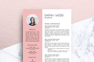 Resume Template (MS Word) | Sarah