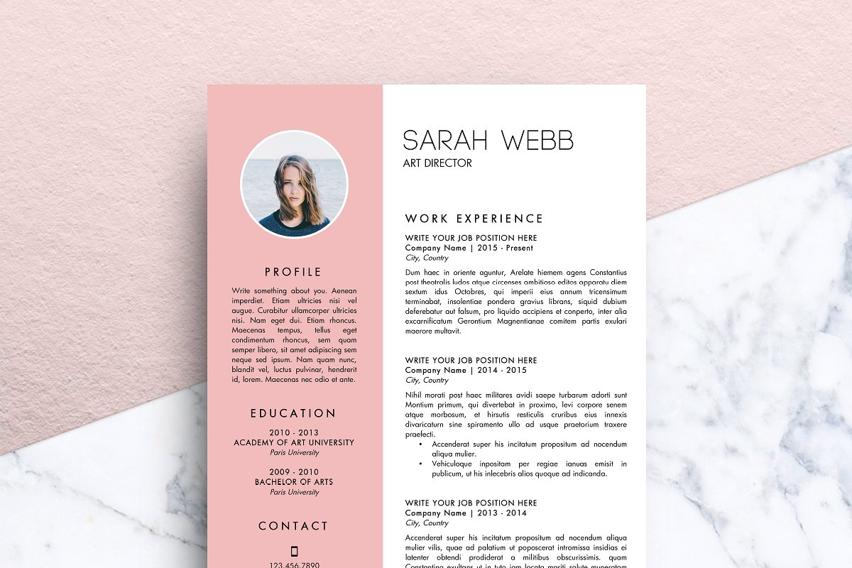 Resume Template Ms Word Sarah