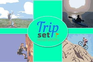 Trip Set Illustrations