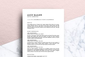 Minimalist Resume (MS Word) | Alice