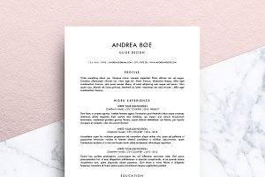 Minimalist Resume (MS Word) | Andrea