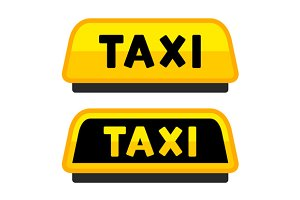 Taxi Car and Roof Sign