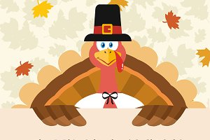 Pilgrim Turkey Bird Character