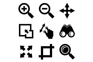 Zoom Icons Set