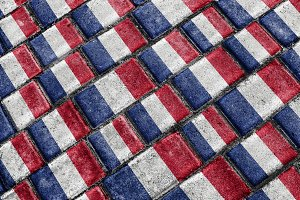 France Flag Urban Grunge Pattern
