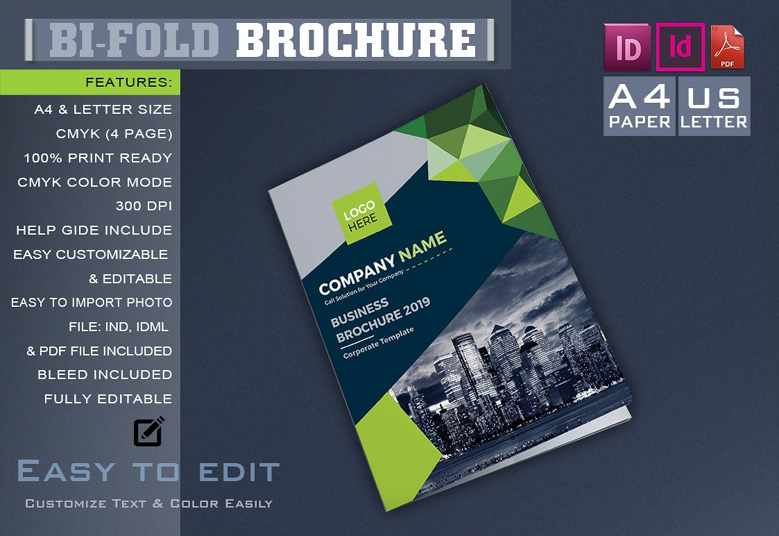 bifold brochure template - corporate bifold brochure brochure templates creative