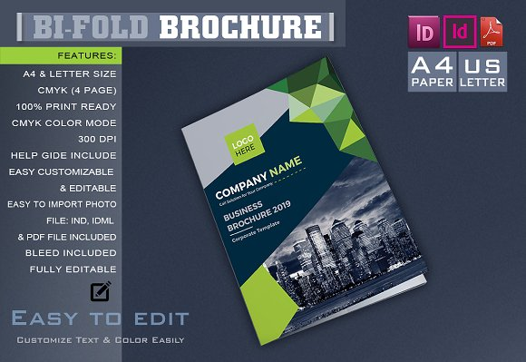 corporate bifold brochure brochure templates creative market