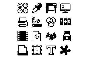 Printing Icons Set