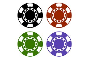 Color Casino Poker Chips Set