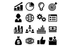 Marketing and CEO Icons Set