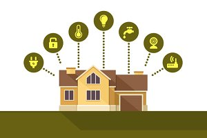 Smart House Technology Infographic