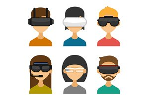 Avatars with Virtual Reality Glasses