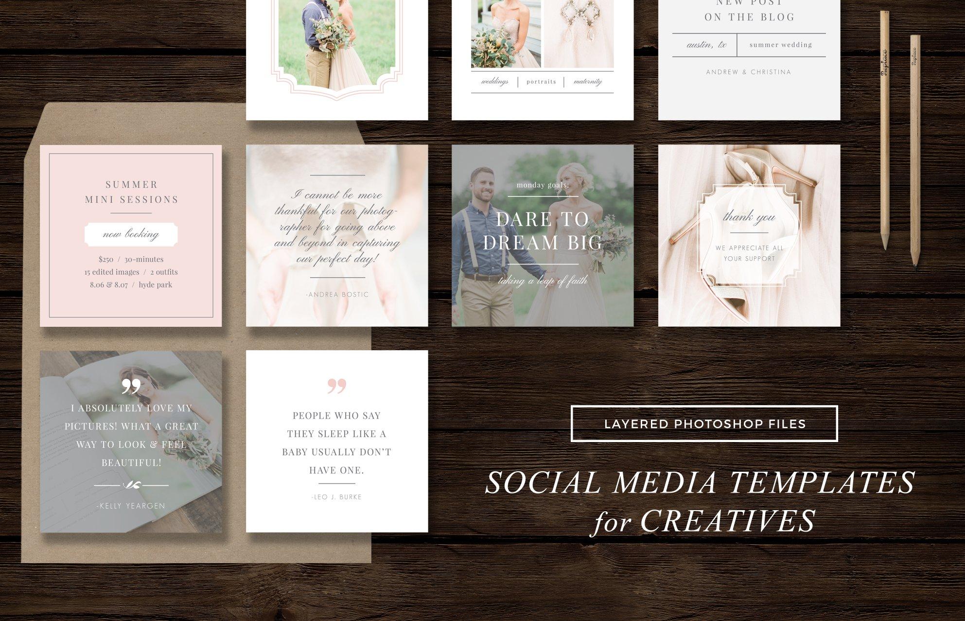Social media templates instagram web elements creative market maxwellsz