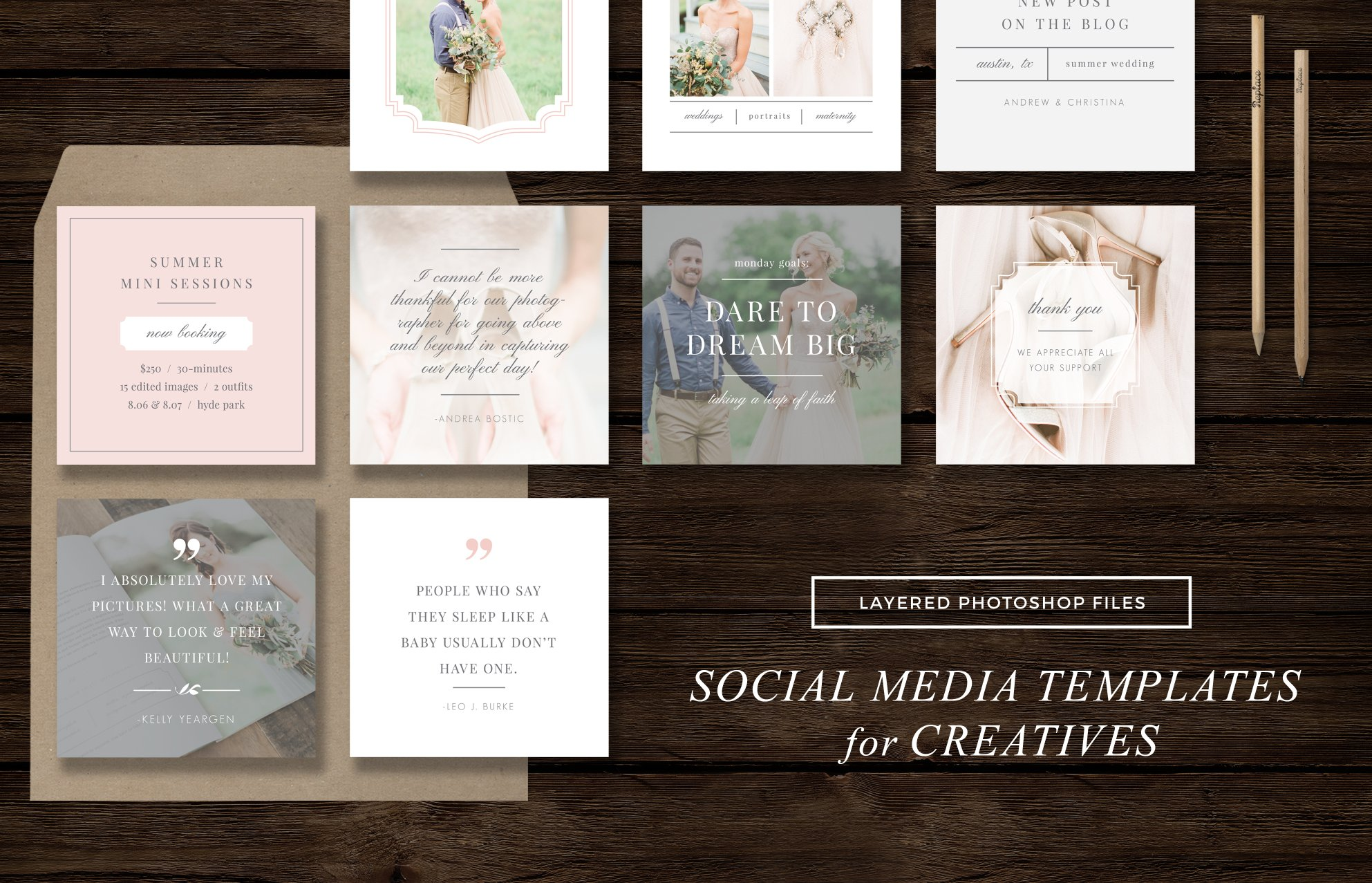 social media templates instagram web elements creative market. Black Bedroom Furniture Sets. Home Design Ideas
