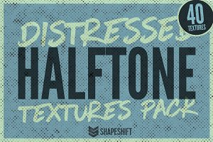 Distressed Halftone Textures Pack