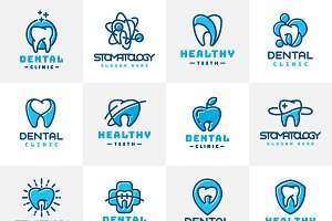 Vector logo dental protection