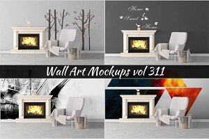Wall Mockup - Sticker Mockup Vol 311