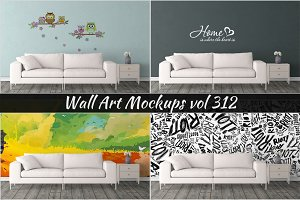Wall Mockup - Sticker Mockup Vol 312