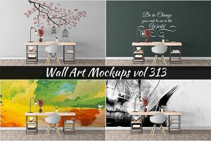 Wall Mockup - Sticker Mockup Vol 313
