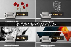 Wall Mockup - Sticker Mockup Vol 314