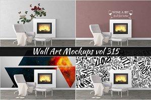 Wall Mockup - Sticker Mockup Vol 315