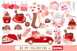 BE MY VALENTINE clipart