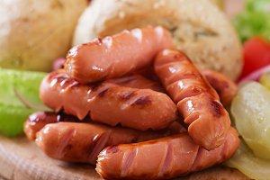 Ingredients for making Hot dog