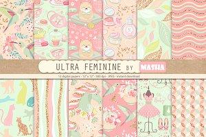 ULTRA FEMININE digital paper