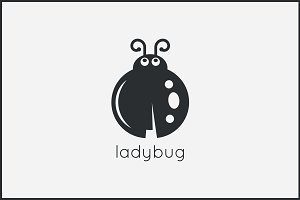Ladybug logo design background.
