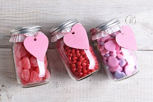 Valentines Day Candy Jars