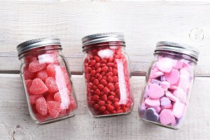 Valentines Candy Jars