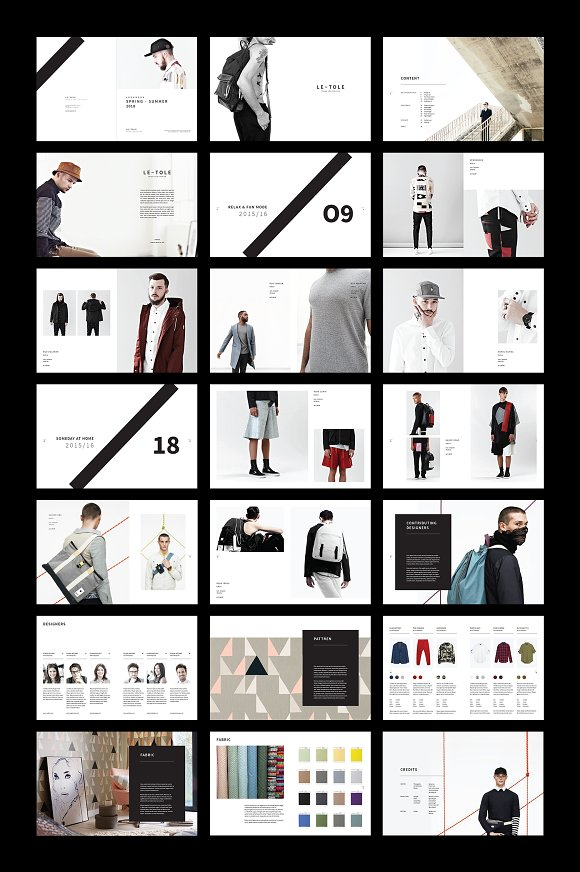 Fashion Lookbook in Brochure Templates - product preview 6
