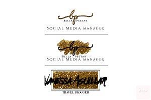 Premade Logo | Gold | Glitter | BWD