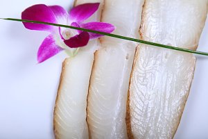 Fresh white fish