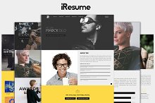 iResume -Personal Resume & Portfolio by HRPro Shop in HTML/CSS